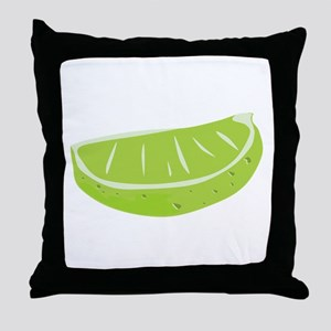 Lime Wedge Throw Pillow